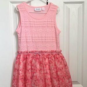 Girls Sleeveless Ruffle Dress